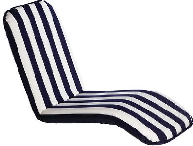 COMFORT SEAT LG BACK BLUE STRI