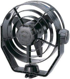 FAN 12V 2-SPEED TURBO BLACK