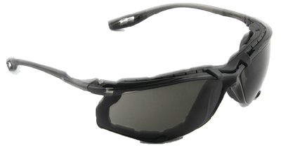 GLASSES SAFETY GRY LENS W/FOAM
