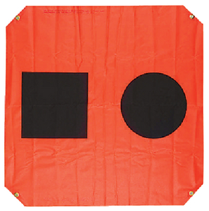 3'X3' ORANGE DISTRESS FLAG