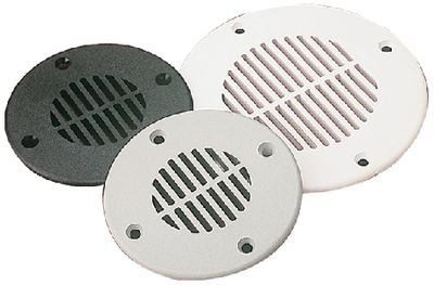 DECK DRAIN 5-5/8IN BLACK ABS