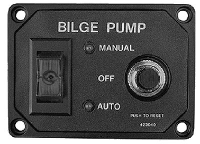 BILGE PUMP SWITCH PANEL W/BRKR