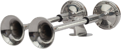 COMPACT DUAL TRUMPET HORN
