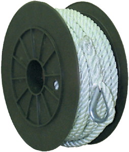 NYLON ANCHOR LINE-WHT-1/2X100