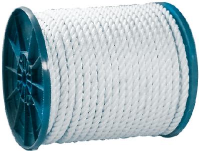 TWIST NYLN ROPE-WHT-1/4 X 600