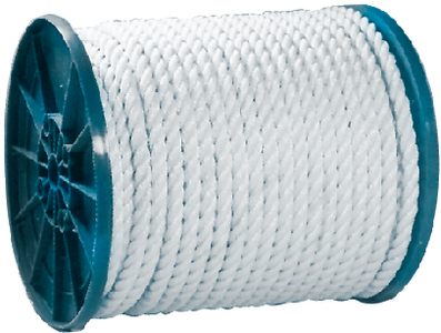 TWIST NYLON ROPE-WHT-3/8X600