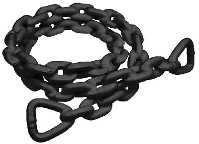 ANCHR LEAD CHAIN-PVC-1/4X4-BLK