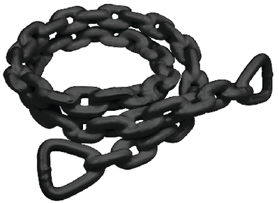 ANCHR LEAD CHAIN-PVC-5/16X5BLK