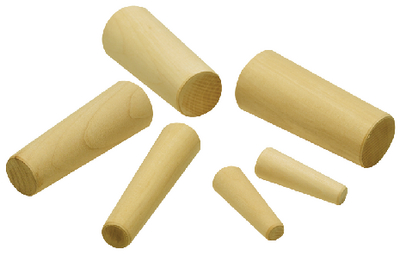 WOOD PLUGS-6 PER BAG