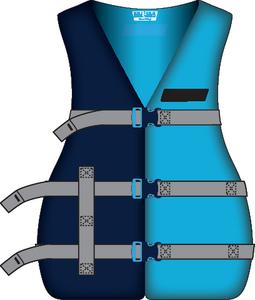 ADULT XL UNIVERL PFD BLUE/BLUE