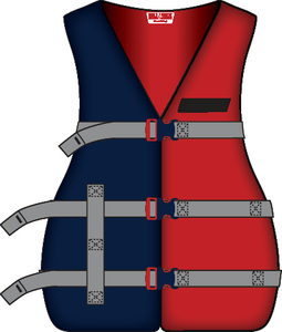 ADULT XL UNVRSL PFD NAVY/RED