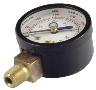 GAUGE BOTTOM MOUNT 0-60 PSI