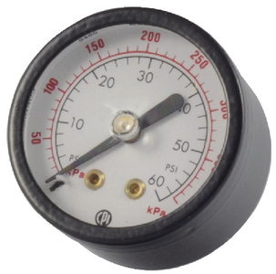 GAUGE REAR MOUNT 0-60 PSI