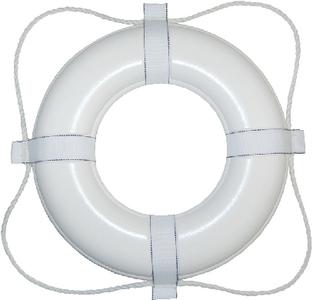 24IN WHITE FOAM RING BUOY