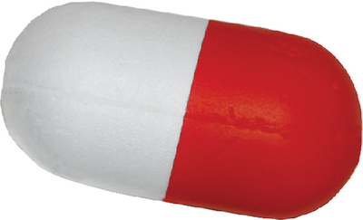 FLOAT RED/WHITE SOLID FOAM