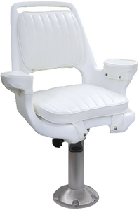 EXWD CHAIR W/MTG PLT & 15  PED
