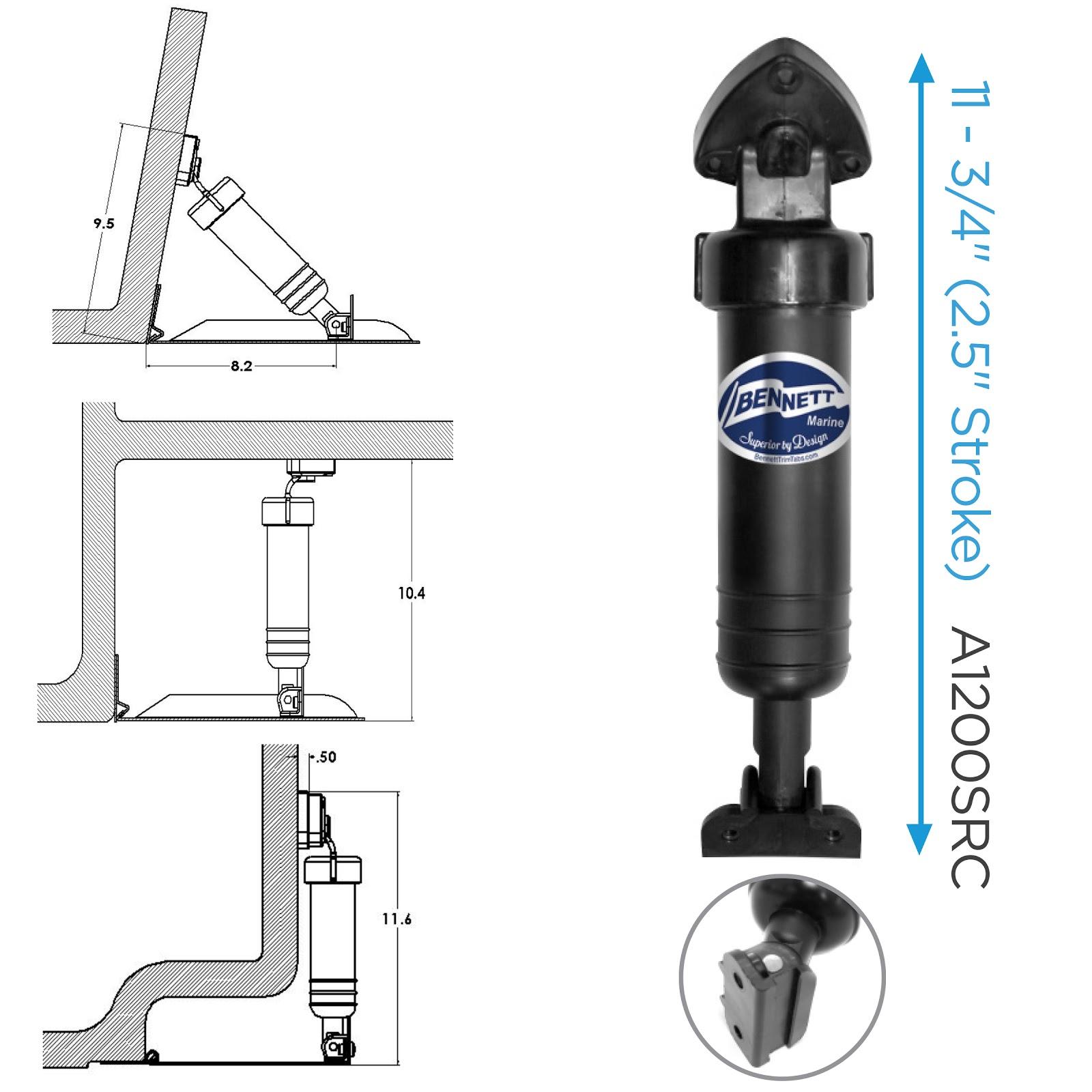 Bennett A1101A Replacment Trim Tab Cylinder