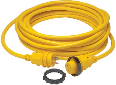 30A SHORE POWER CORD YEL 25FT